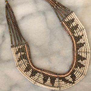 Urban Outfitters Beaded Tribal Bib Necklace